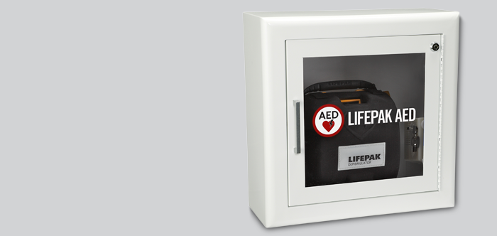 Aed Wall Cabinet With Alarm White Trim 3 Inch Return